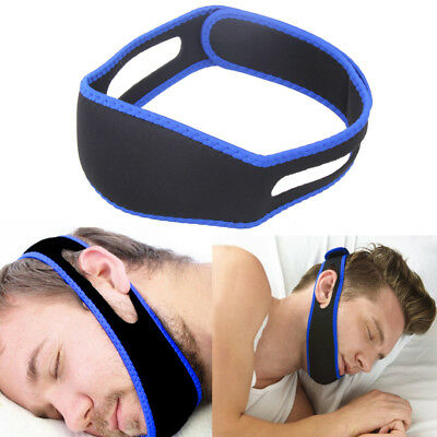 New Stop Snoring Chin Strap Anti Snore Belt Apnea Jaw Support Solution Sleep