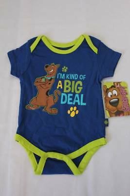 """Scooby-Doo Blue Short Sleeve /""""I/'m Kind of a Big Deal/"""" Creeper 0//3 Months NWT"""