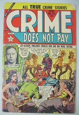 Crime Does Not Pay #121 April 1953 Lev Gleason Comics Cabaret Girls Cover