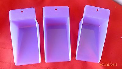 New Tupperware Canister Scoops Purple Lot of 3 Flour Sugar Scoops Gadgets