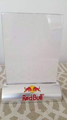 """NOS Red Bull Drink Restaurant Cafe Table Tent Menu Ad Holder 4"""" x 6"""" Brand New"""