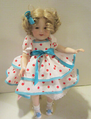 """Vintage 1998 Artist made reproduction 15"""" Shirley Temple - well dressed VGC"""