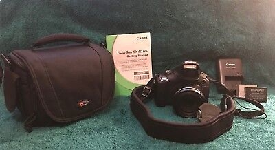 Canon PowerShot SX40 HS, plus Platinum Plus Strap and Lowepro Carrying Case