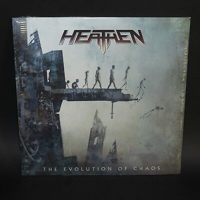 HEATHEN - The Evolution of Chaos LP 1st press forbidden agent steel watchtower