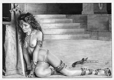 DYNAMITE Comics DEJAH THORIS SEX SLAVE 2 Original Art Princess MARS JOHN CARTER