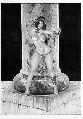 DYNAMITE Comics DEJAH THORIS SEX SLAVE Original Art Princess MARS JOHN CARTER