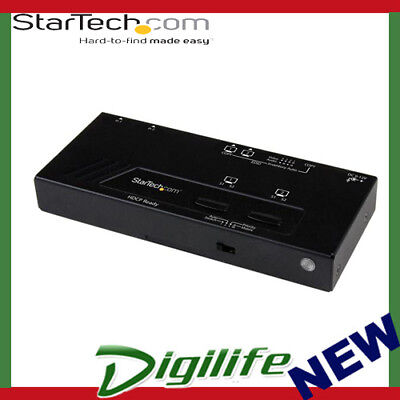 STARTECH 2X2 HDMI Matrix Switch w/ Automatic and Priority Switching – 1080p
