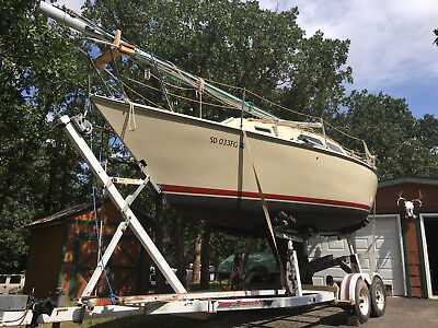 Sailboat Boat Fully Rigged and Equipped 27' Sloop