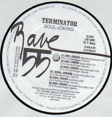 "★★12"" Be Hardcore**terminator - Soul-Joking (Rave 55)★★6830"