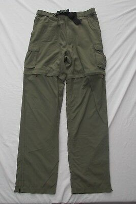 Boy Scouts America pants shorts switchback convertible ankle zip off cargo M 34