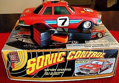 1970's Sonic Control Battery Operated Mercedes Benz 450 Slc In Original Box!