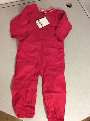 The Grubby - Water Resistant Playsuit for Babies and Toddlers 12-18 Months Red