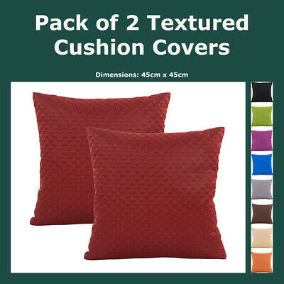 Solid Burnout Square Textured Polyester Cushion Cover Throw Pillow Case Home