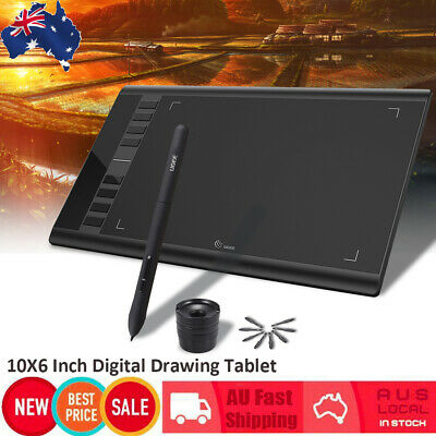 "Ugee M708 10x6"" 5080 LPI Graphics Art Drawing Tablet Design Pad w/Digital Pen"
