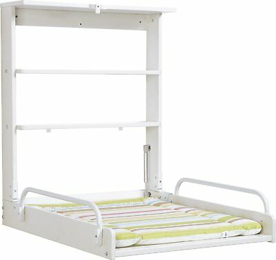 Baby Diaper Changing Table with Baby Mattress Foldable White Color Practical New