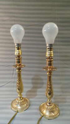 Table Lamps French Candle Sticks Lights Superb Vintage French Bronze