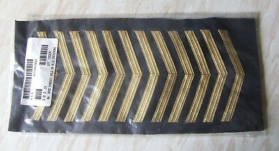British Royal Navy Ratings Gold Braid Good Conduct Cheverons Pack Of Unissued