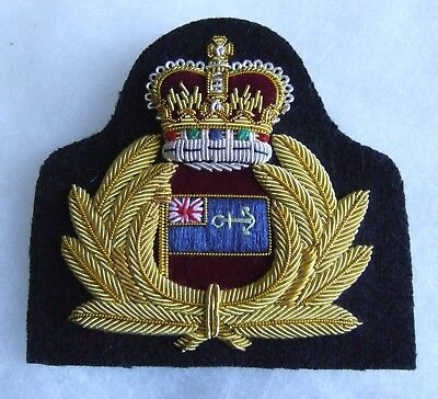 British Royal Navy Maritime Auxiliary Officers Superb Cap Badge