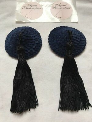 AGENT PROVOCATEUR Nipple Tassels Suede Sequin PASTIES Stickers Burlesque Pin-up!