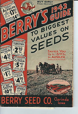 MB-100 - Berry's 1942 Seed Catalog Guide, 80 Pages, Clarinda, Iowa, Illustrated