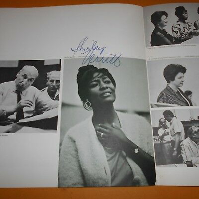 Shirley Verrett was an African-American operatic mez Hand Signed 22 Page Program