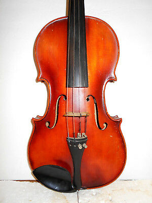 "Old Antique Vintage ""Fritz Otto Kaiser"" 2 Pc Back Full Size Violin - No Reserve"