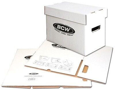 10 BCW Short Comic Storage Boxes New Cardboard High Quality Archival Supplies