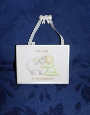"""Demdaco plaque """"THE LORD IS MY SHEPHERD"""" FROM ABOVE willow Tree Claire Stoner"""