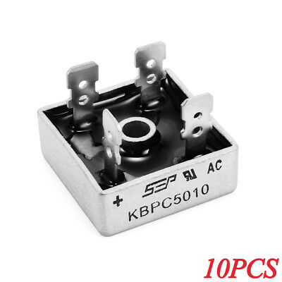 10x KBPC5010 50 AMP 1000V Single Phase Bridge Rectifier TE504