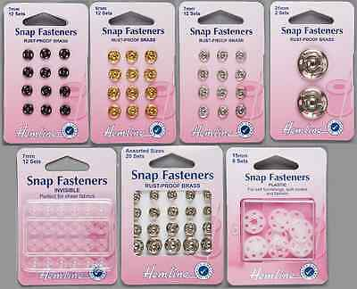 Snap Fasteners Poppers Press Studs Metal Plastic Black Silver All Sizes