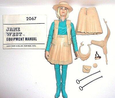 MARX 1960'S BEST OF THE Johnny WEST JANE WEST FIGURE &  Accessories EXCELLENT