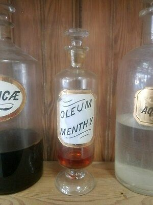 Label Under Glass Warner's Apothecary Bottle  Original Content