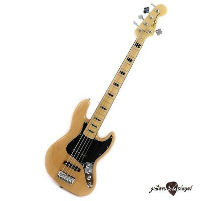 Squier Vintage Modified Jazz Bass V 5-String Electric Bass - Natural