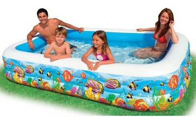Intex Schwimm Center Family Pool Tropical Reef 58485NP