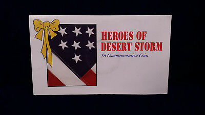 1991 Heroes of Desert Storm 5 Dollar Commemorative Coin
