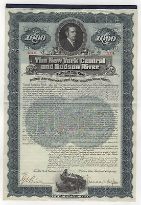 New York Central and Hudson River Bond - Chauncey M. Depew