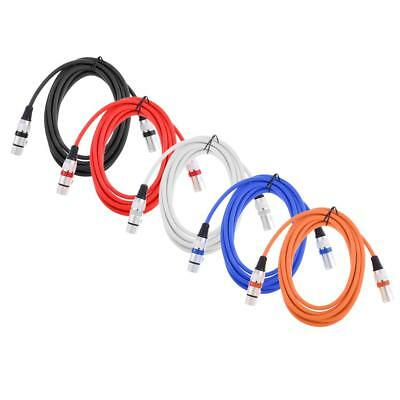 2M 3pin Microphone Lead XLR Patch Cable Male to Female Extension Mic Cable