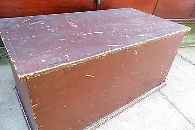 Georgian Pine Coffer Blanket Box Marriage Chest Coffee Table Large antique