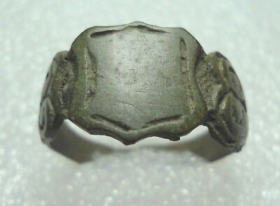 Ancient Roman Bronze Ring With name Original Authentic Antique Rare