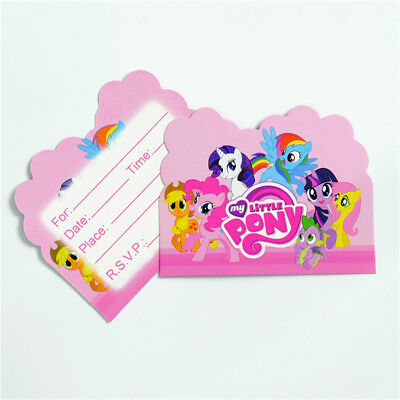 My Little Pony Birthday Party Invitations 8 pieces Kids US Seller New