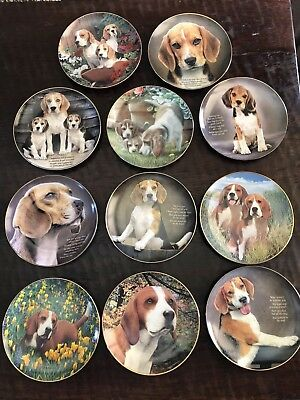 The Danbury Mint Beagle Plates - Set Of 11