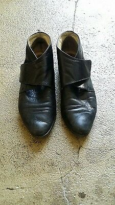 Vintage Black Bally Ankle Boots Butter Soft Leather 5.5 Made in Italy