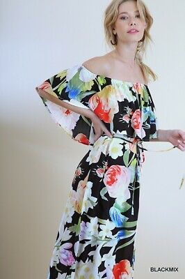 04aef1d8be UMGEE FLORAL MAXI Dress Small or Medium NEW -  29.25
