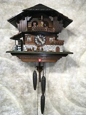 AMAZING VTG LARGE German Black Forest Handmade SWISS MUSICAL  Cuckoo Clock WORKS