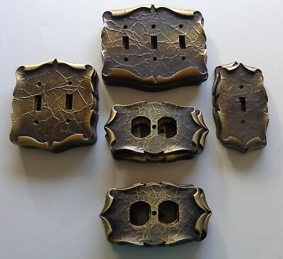 20 Vintage Amerock Carriage House Solid Brass Outlet & Light Switch Cover Plates