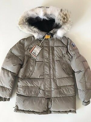Authentic Parajumpers Harraseeket Youth Small Long Parka Fur Boys Kids Pjs New