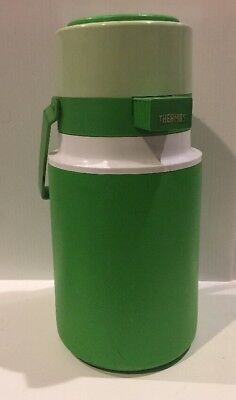 VINTAGE King Seeley THERMOS MODEL 7771/P -2 LITER W/ PUMP- LIME GREEN