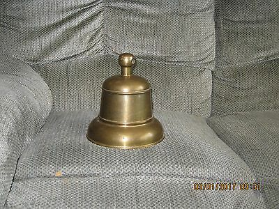 Large Antique Brass Bell Vintage From Ship Train Or Schoolhouse Great Sound