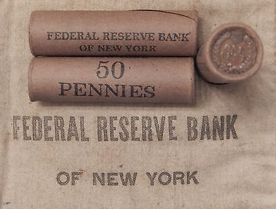 1x 50 Cent Indian Head Penny Cent Roll 50 Cents IHC 1859-1909 Old US Pennies J29