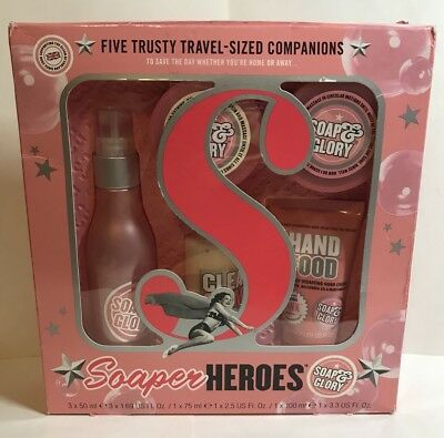 Soap and Glory Soaper Heroes 5 trusty travel sized companions Free Shipping